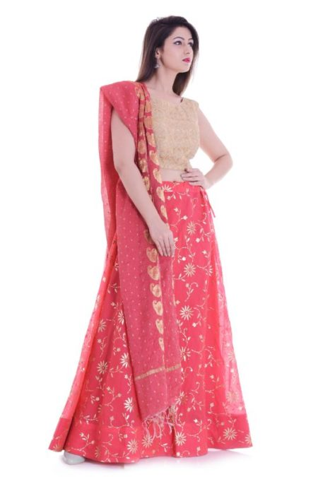 Strawberry lehenga set