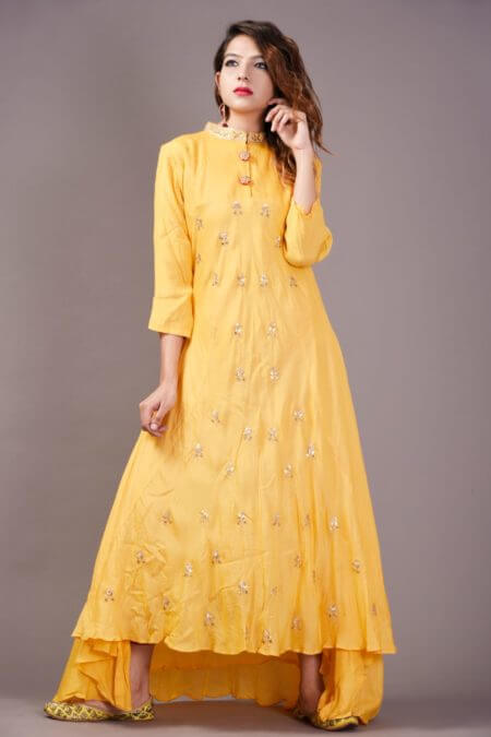 Yellow Dress High-Low