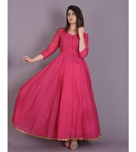 PINK FLARED ANARKALI DRESS