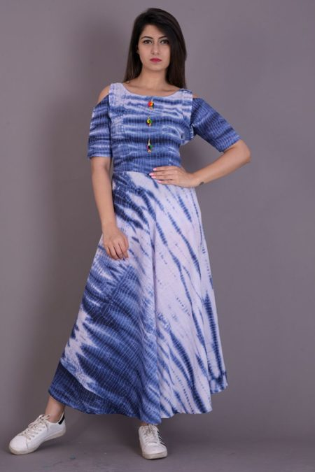 Blue Tie & Die Dress