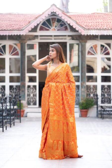 Orange Silk Saree